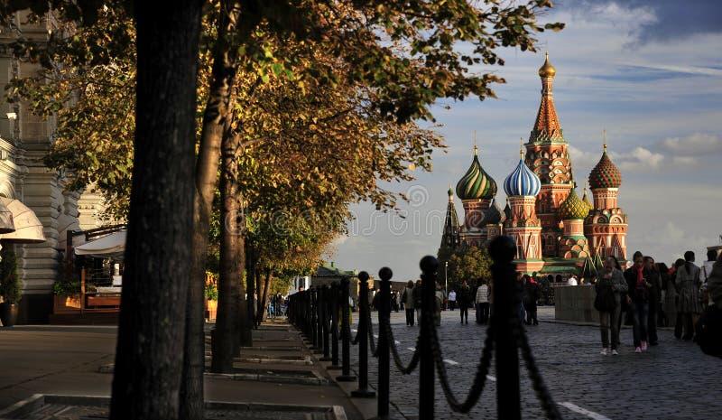 St Basil& x27; s kathedraal, Rood Vierkant, Moskou, Rusland stock foto