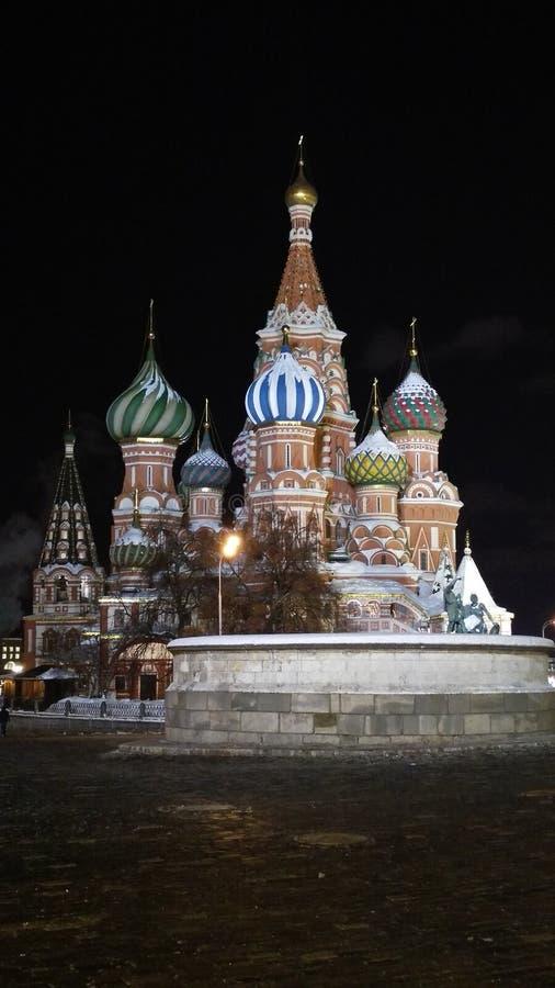 St basila kościół przy nocą zdjęcia royalty free