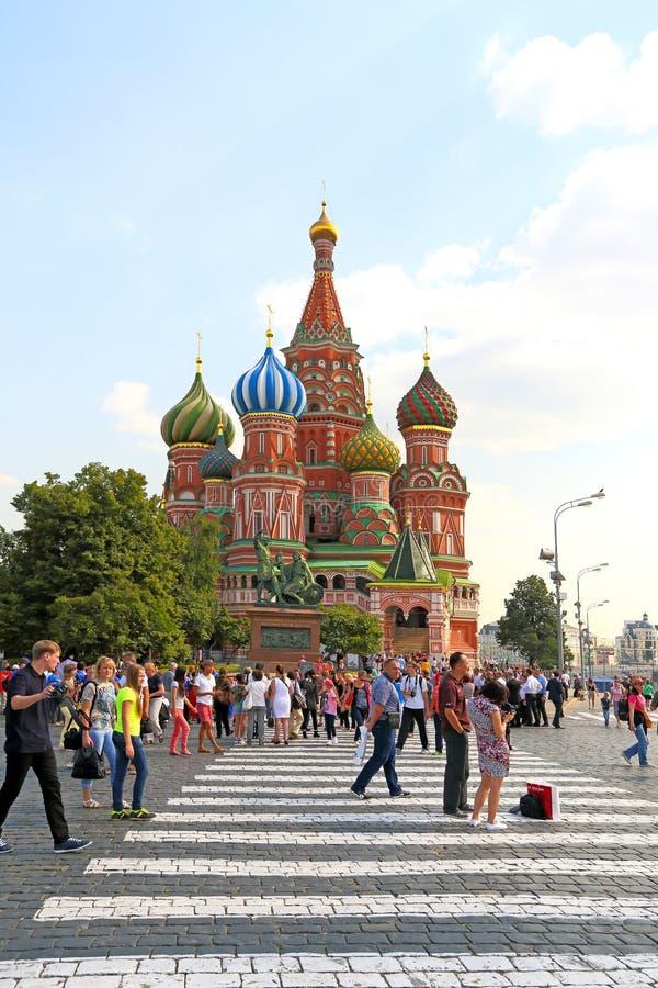 St basila Ortodoksalna katedra w Moskwa na letnim dniu zdjęcia royalty free