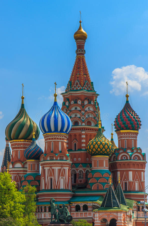 St. Basile katedra, Moskwa, Rosja zdjęcia royalty free