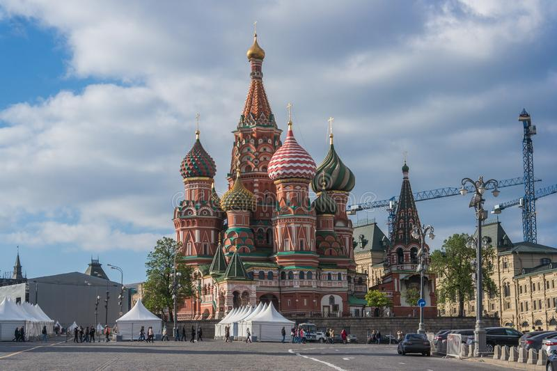St Basilicum` s Kathedraal in Moskou stock fotografie