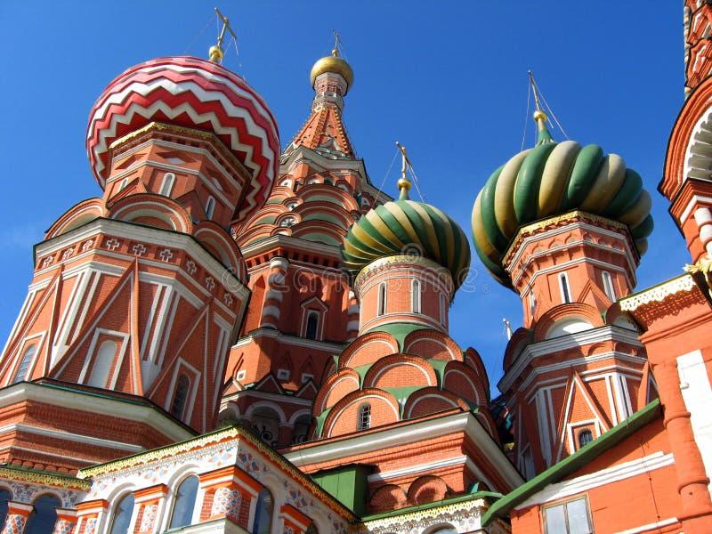 St Basilicum` s Kathedraal in Moskou, Rusland stock afbeelding