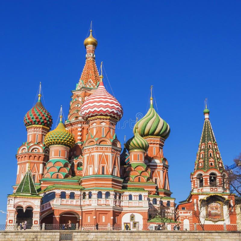 St Basilicums Kathedraal inMoscow, Rusland stock afbeeldingen