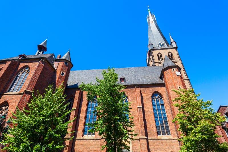 St Basilika Lamberto en Düsseldorf fotografía de archivo