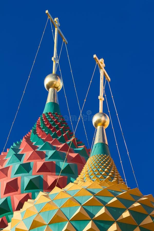 St-basilikas domkyrka i Moskva på en solig dag royaltyfria foton