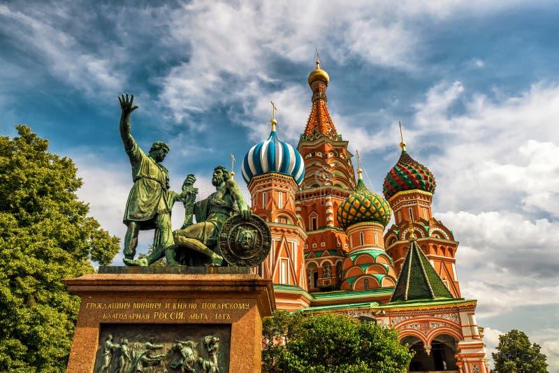 St.-Basilikum ` s Kathedrale in Moskau stockfotos