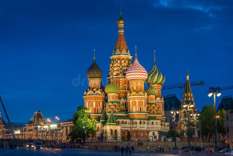 St.-Basilikum ` s Kathedrale in Moskau auf Rotem Platz lizenzfreie stockfotografie