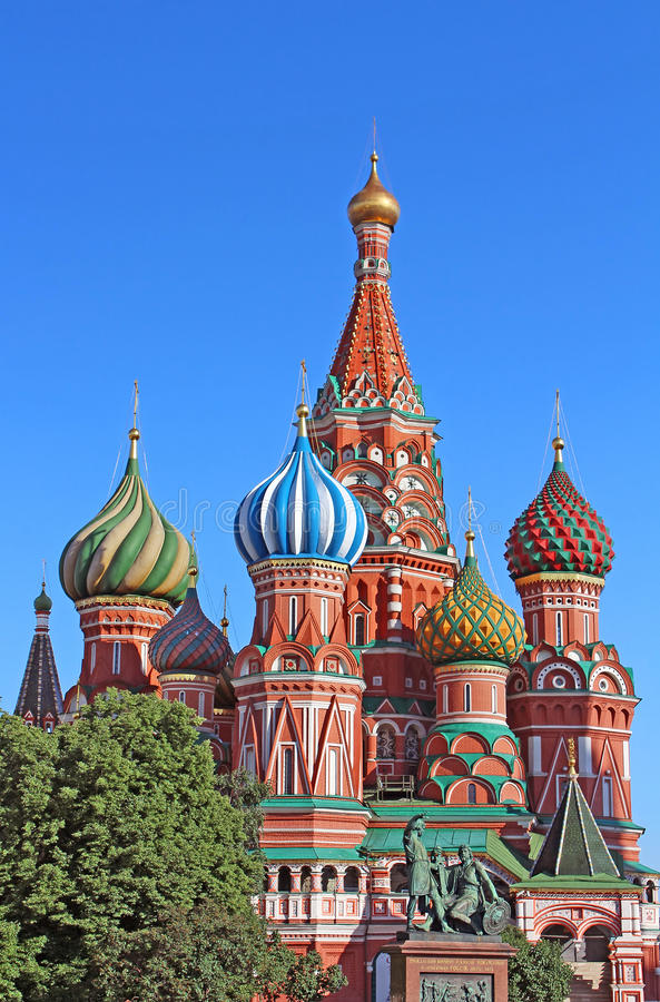 St. Basils cathedral in Moscow, Russia stock photos
