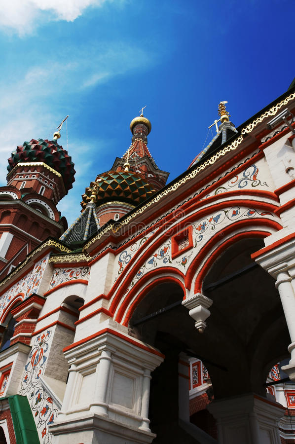 St.Basils in Moscow stock images
