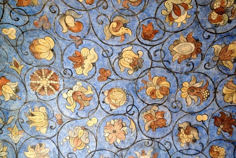 St basilu Kwieciści ornamenty z Błękitnym tłem obrazy royalty free