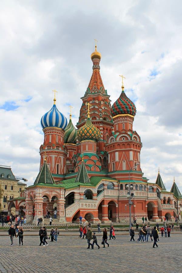 St basilu ` s katedra na placu czerwonym w Moskwa fotografia stock