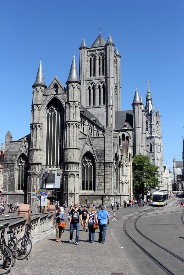 St Bavo Cathedral in Gent, België royalty-vrije stock fotografie