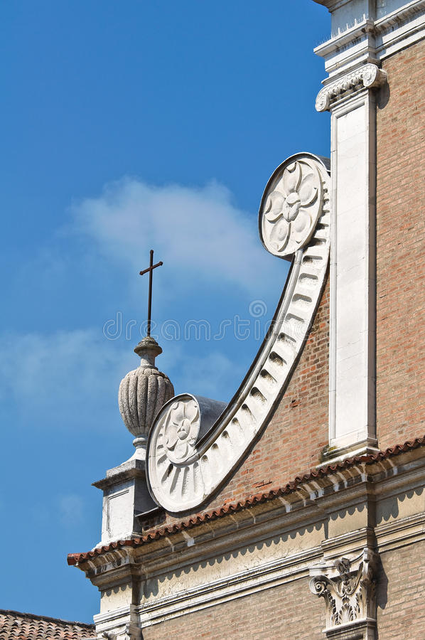 St. Benedetto Church. Ferrara. Emilia-Romagna. Italië. stock fotografie
