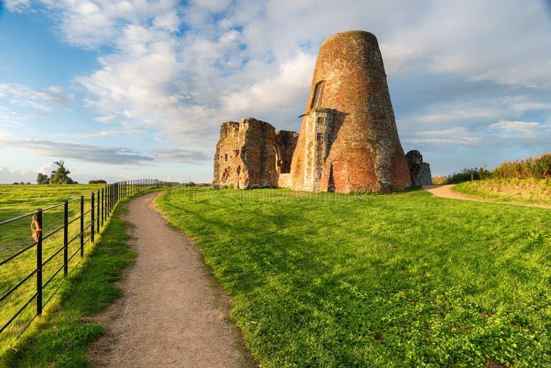 St Benet opactwa ruiny na Norfolk Broads obrazy stock