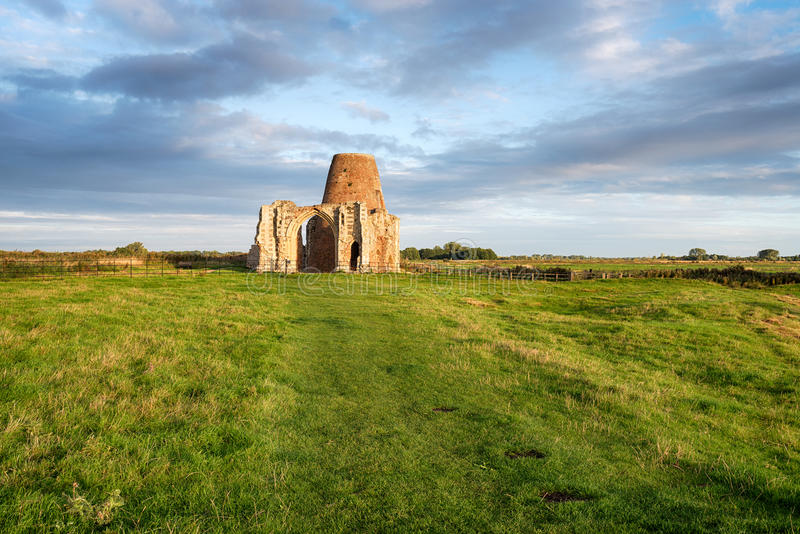 St Benet's Abbey in Norfolk royalty free stock photo
