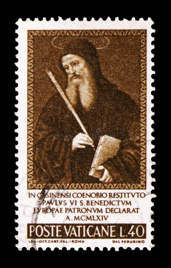 St Benidictus, Benidictus, patron Europa seria około 1965, fotografia royalty free