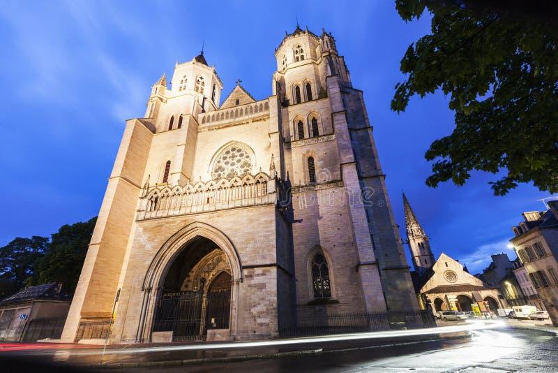 St Benigne大教堂在第茂 图库摄影