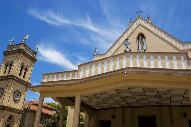 St. Bernadette Kerk, Chilaw, Sri Lanka stock foto