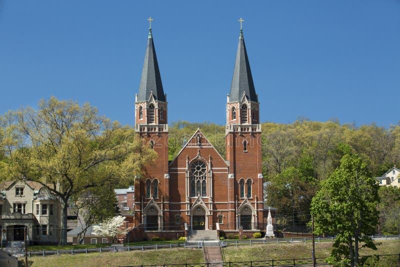 St. Bernard Catholic Church, Rockville, Connecticut lizenzfreie stockfotos