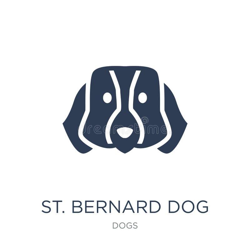 St. Bernard dog icon. Trendy flat vector St. Bernard dog icon on stock illustration