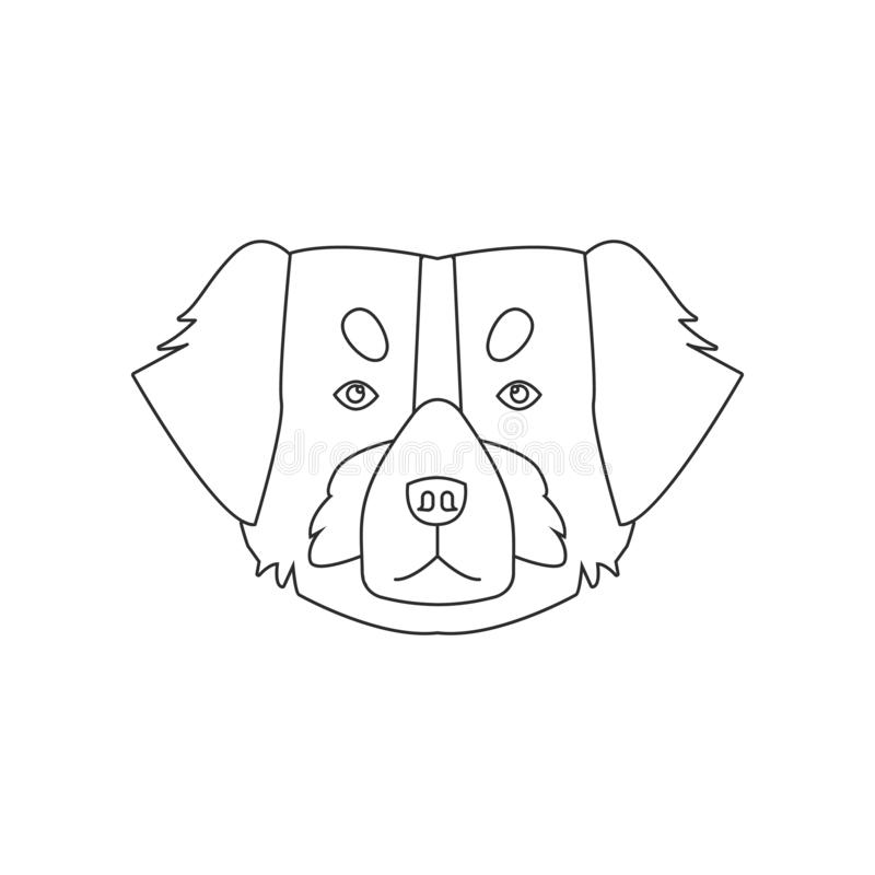 St. Bernard face icon. Element of dog for mobile concept and web apps icon. Outline, thin line icon for website design and vector illustration