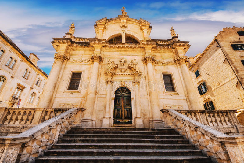 St Blaise Church in Dubrovnik stock afbeeldingen