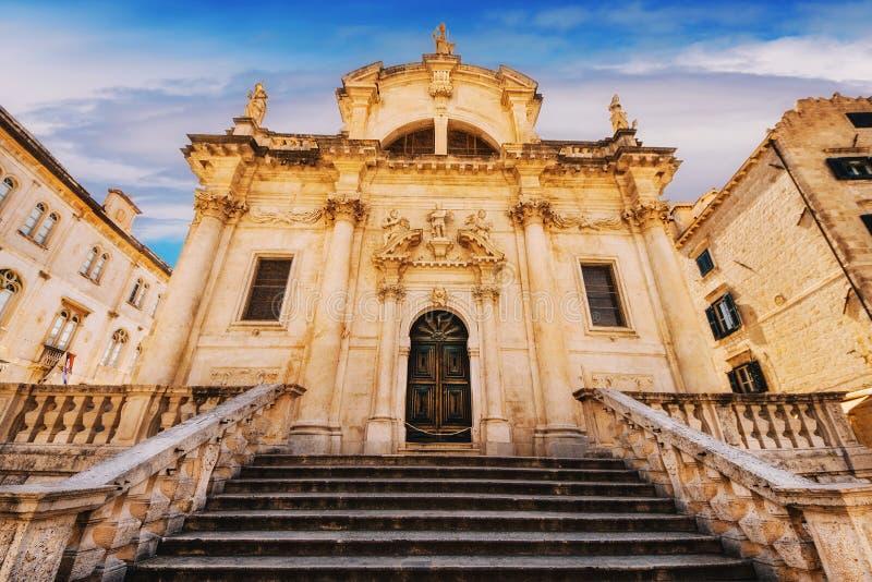 St Blaise Church i Dubrovnik arkivbilder