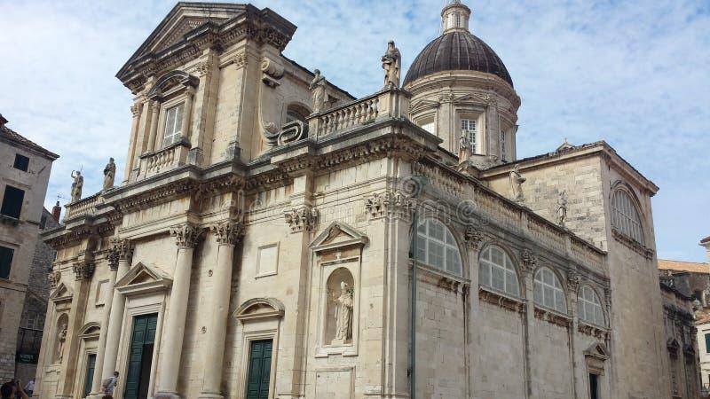St Blasius Church, città di Ragusa, Croazia immagini stock libere da diritti