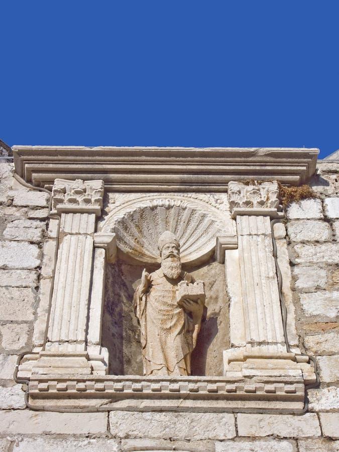 St Blasius, il santo patrono della città di Ragusa fotografie stock libere da diritti