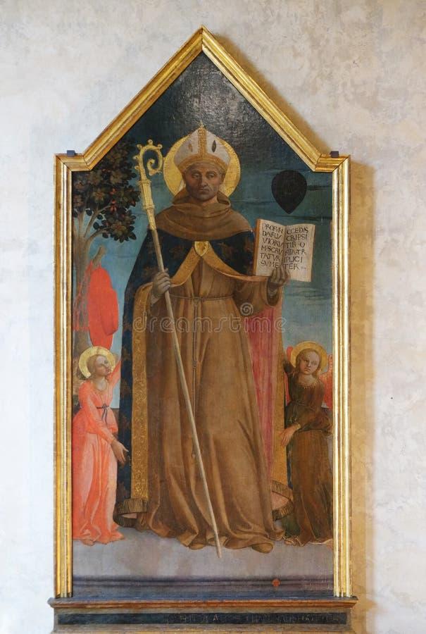 St Bonaventure entre deux anges, Di Santa Croce de basilique à Florence photos libres de droits
