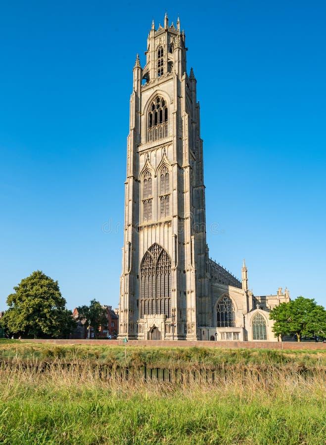 St Botolph的教会在波士顿,英国 免版税库存图片