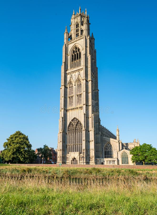 St Botolph Kerk in Boston, Engeland royalty-vrije stock afbeelding