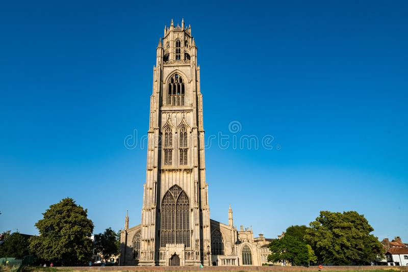 St. Botolph`s Church in Boston, England. United Kingdom stock photos