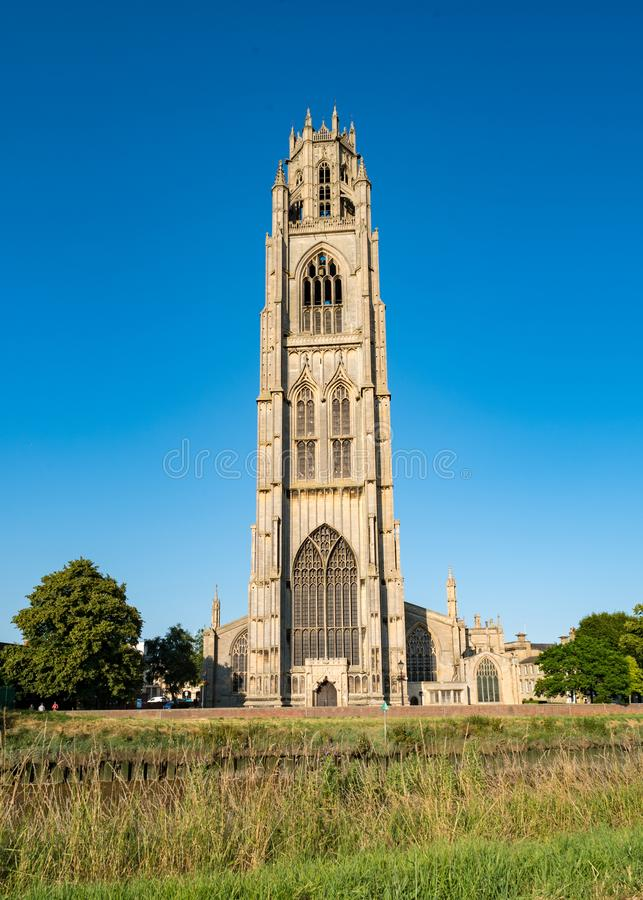 St. Botolph`s Church in Boston, England. United Kingdom royalty free stock image