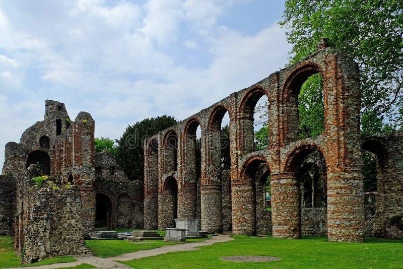 St Botolphs Priorij stock foto's