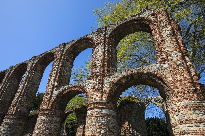 St Botolphs Priory w Colchester obraz stock