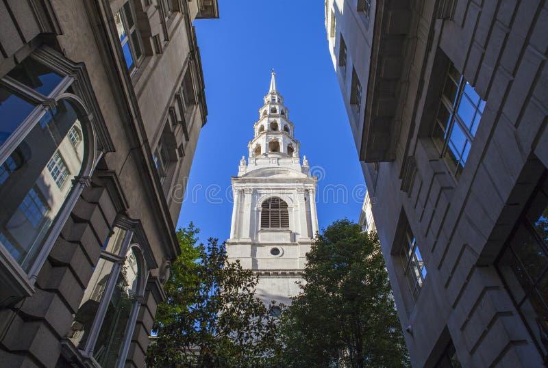 St-brudkyrka i London royaltyfria bilder