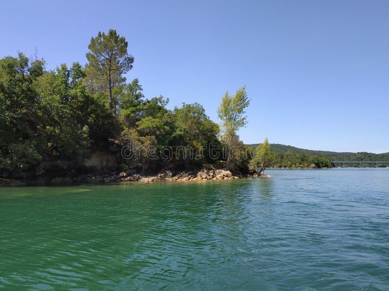 St Cassien de França - lago fotos de stock royalty free