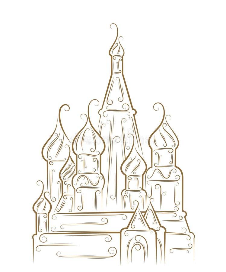 St. Catedral da manjericão ilustração do vetor