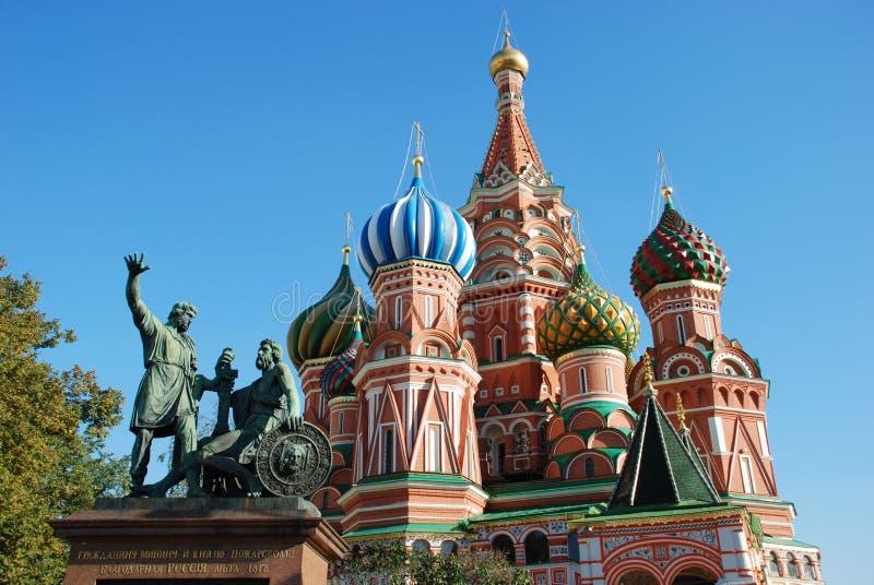St. Catedral da manjericão em Moscovo fotografia de stock