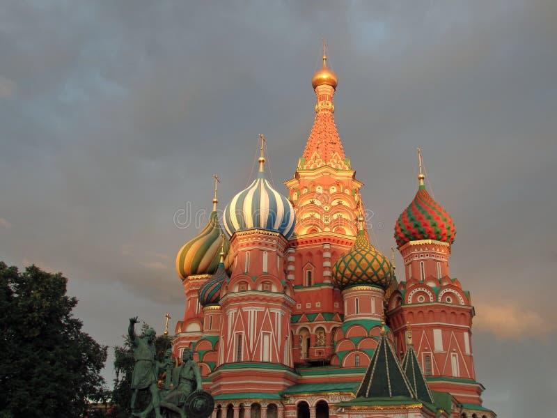 St Catedral da manjericão, quadrado vermelho, Moscovo foto de stock royalty free