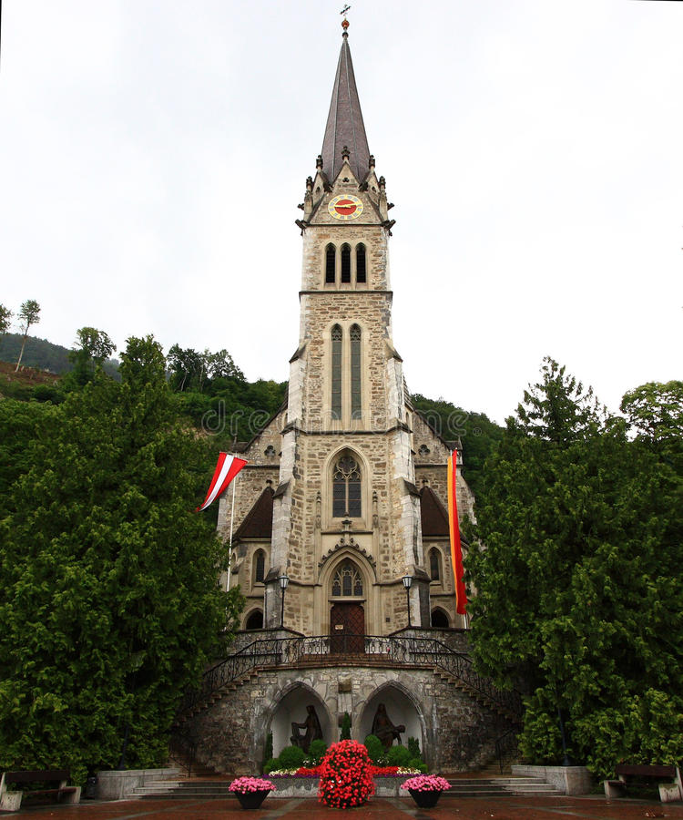 Download St. Catedral do florim foto de stock. Imagem de liechtenstein - 10065990