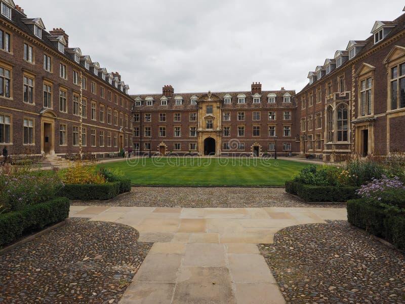 St Catharine Universiteit in Cambridge stock foto