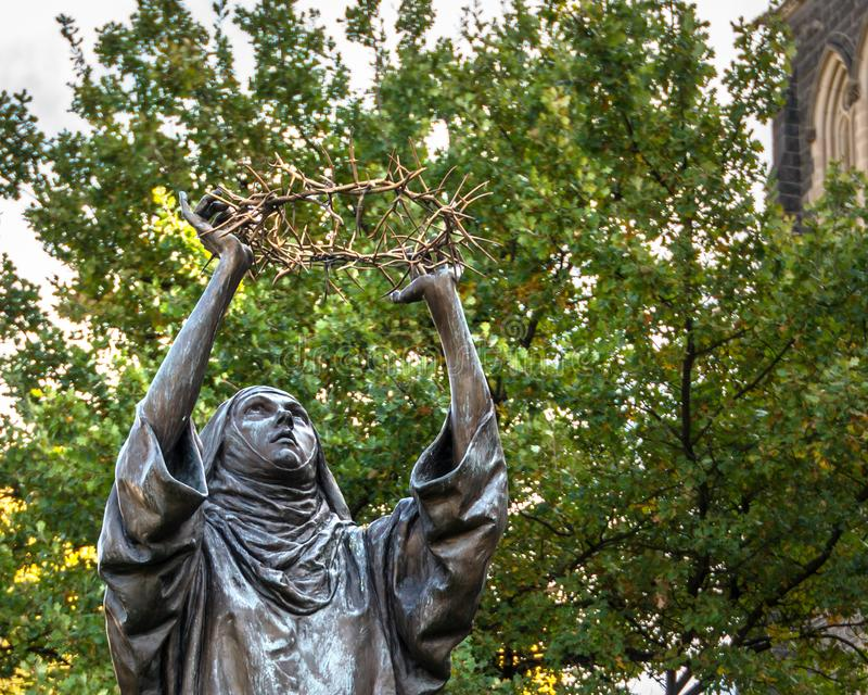 ST Catherine της Σιένα, κορώνα των αγκαθιών στοκ εικόνα
