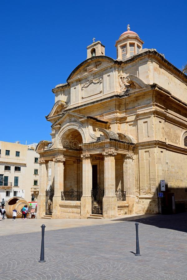 St Catherine of Italy church, Valletta. royalty free stock photos