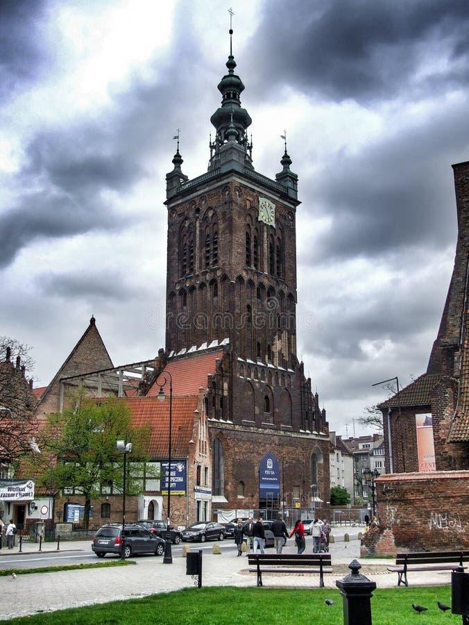 St Catherine kościół stary kościół w Gdańskim fotografia stock