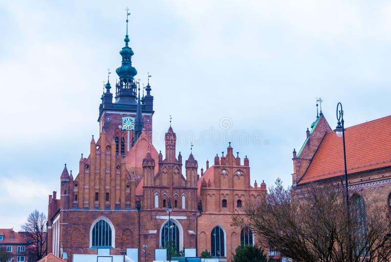 St Catherine kościół w Gdańskim, Polska fotografia stock