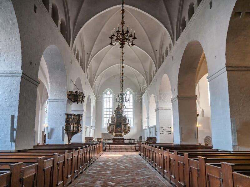 St. Catherine Monastery in altem Ribe, Dänemark lizenzfreies stockbild