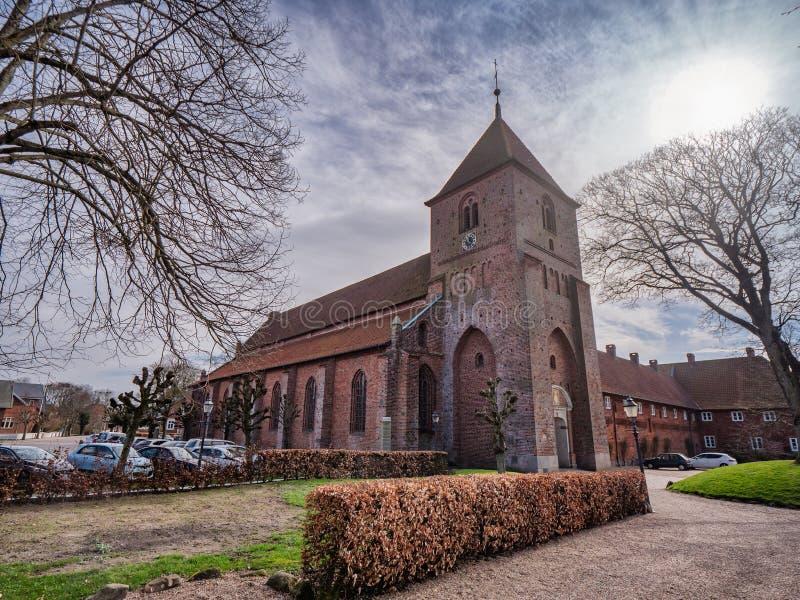 St Catherine Monastery em Ribe velho, Dinamarca foto de stock