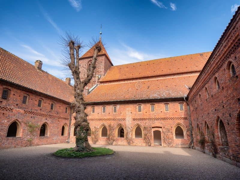 St Catherine Monastery em Ribe velho, Dinamarca fotos de stock royalty free